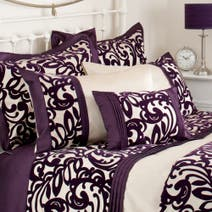 Plum Baroque Flock Oxford Pillowcase