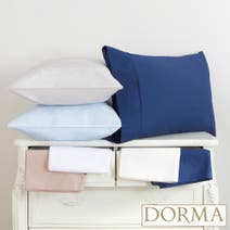Dorma 300 Thread Count Plain Dye Cuffed Pillowcase