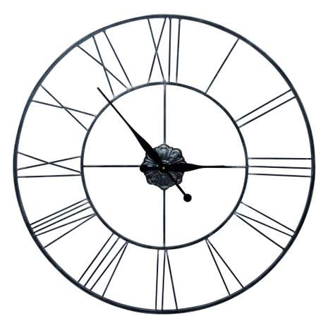 Roman Numeral Metal Oversized Wall Clock
