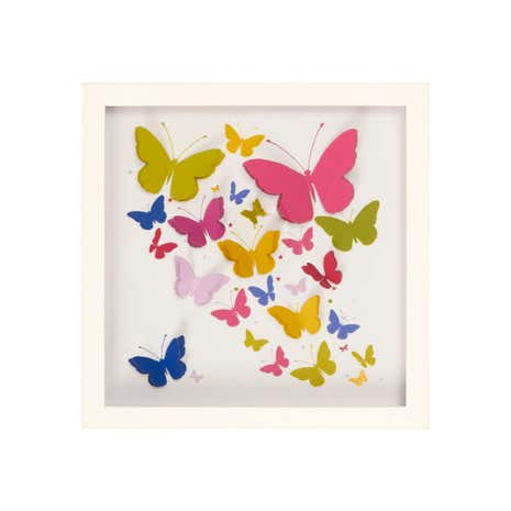 Meadow Breeze 3D Butterfly Framed Print