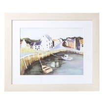 Quirky Harbour Framed Print