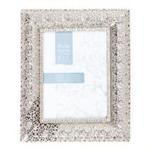 Silver Moroccan Photo Frame