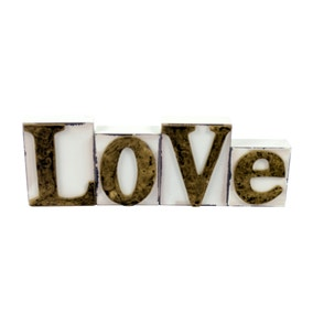 Golden Blush Wooden Love Sign