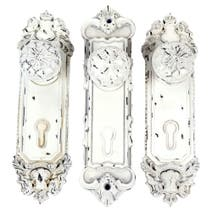 Maison Chique Set of 3 White Door Hangers