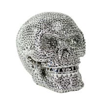 Sparkle Silver Skull Ornament