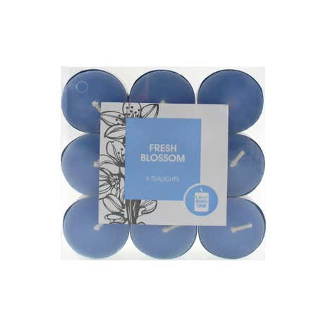 Home Fragrance Pack of 9 Fresh Blossom Tea lights