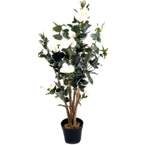 Artificial Cream Rose Tree