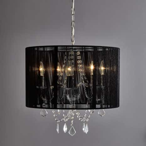 Black Sienna 5 Light Fitting