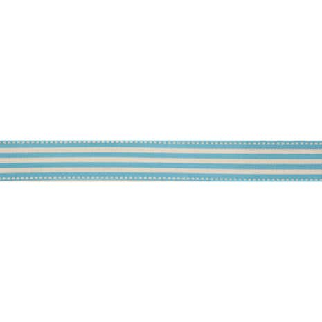 Bowtique Blue Stripe Ribbon