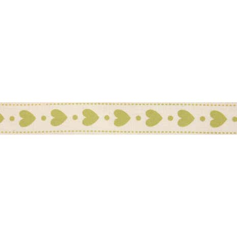 Bowtique Green Hearts Ribbon