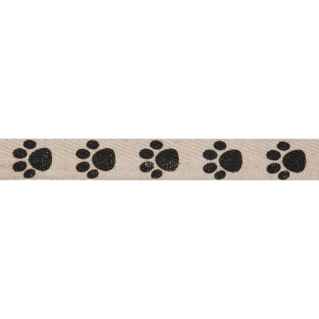 Bowtique Paw Prints Herringbone Ribbon