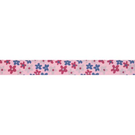 Bowtique Floral Grosgrain Ribbon