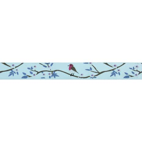 Bowtique Robin in a Tree Satin Ribbon