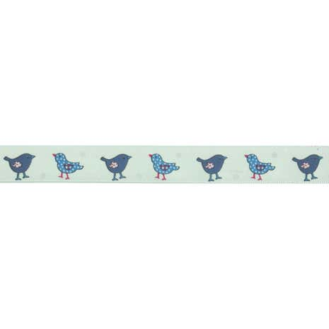 Bowtique Blue Bird Satin Ribbon