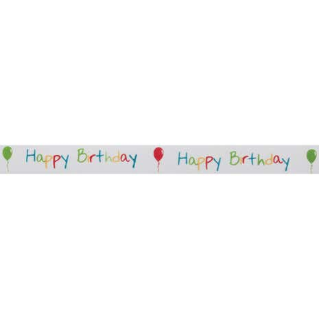 Bowtique Happy Birthday Satin Ribbon