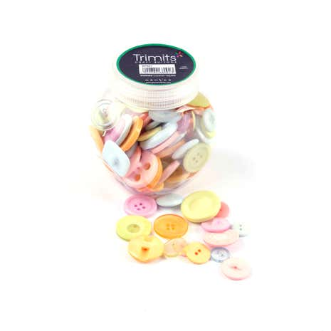 Button Jar Pastels Mix