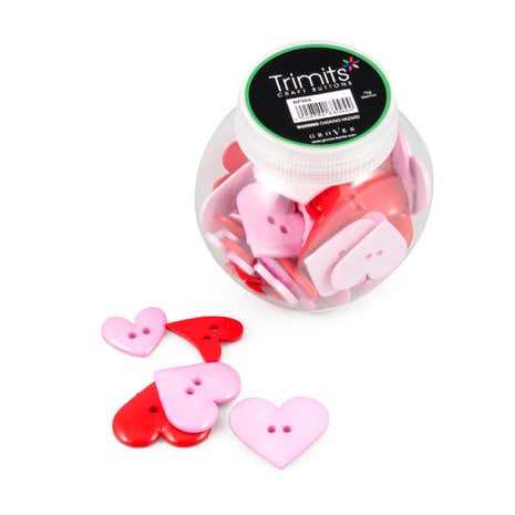 Hearts Button Jar
