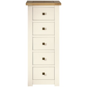 Henley Cream 5 Drawer Tallboy
