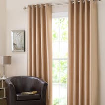 Gold Dakota Lined Eyelet Curtains
