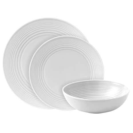 Gordon Ramsay By Royal Doulton White Maze 12 Piece Dinner Set