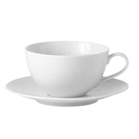 Gordon Ramsay White Maze Cup and Saucer Set