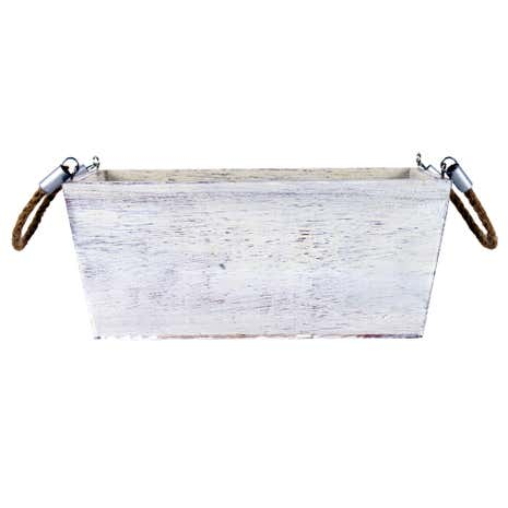 Hamptons White Wash Storage Box
