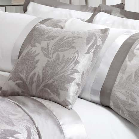 Roma Silver Damask Cushion