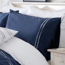 Navy Hampton Housewife Pillowcase