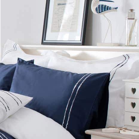 Hampton Navy Oxford Pillowcase