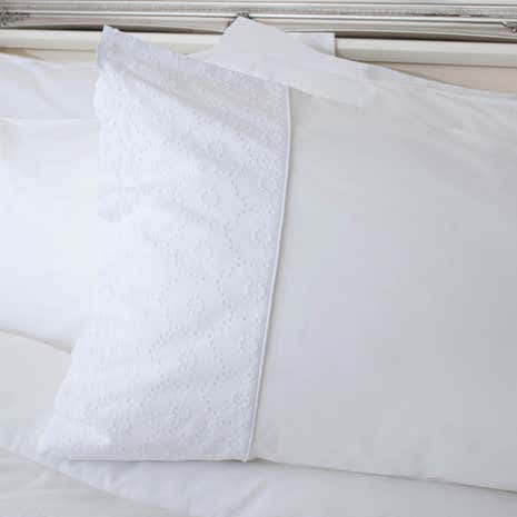 Leighton White Housewife Pillowcase