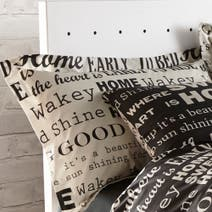 Black Good Morning Oxford Pillowcase