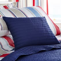 Blue Nautica Stripe Boudoir Cushion