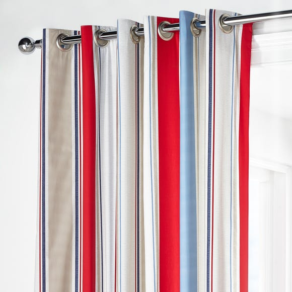 Red Blue Striped Curtains - Best Curtains 2017