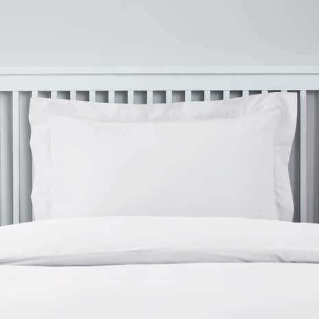 Easycare Plain Dye White Oxford Pillowcase