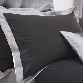 Mercury Black Oxford Pillowcase