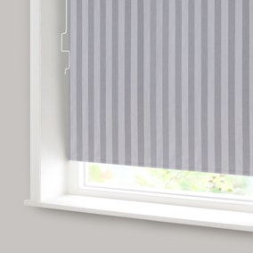 Grey Stripe Blackout Cordless Roller Blind