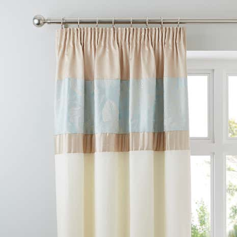 Olivia Duck-Egg Thermal Pencil Pleat Curtains