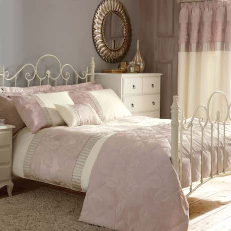 olivia pink duvet cover dunelm. Black Bedroom Furniture Sets. Home Design Ideas