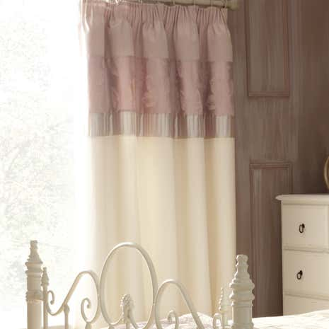 Olivia Pink Thermal Pencil Pleat Curtains