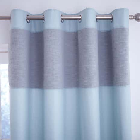 Vancouver Teal Thermal Eyelet Curtains