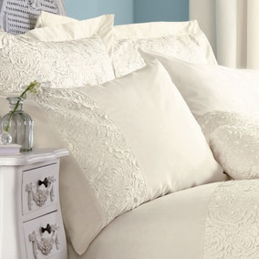 Chloe Rose Cream Housewife Pillowcase