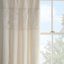 Cream Chloe Rose Thermal Pencil Pleat Curtains
