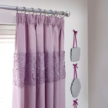 Heather Chloe Rose Thermal Pencil Pleat Curtains