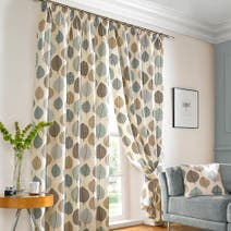 Regan Duck-Egg Lined Pencil Pleat Curtains