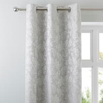 Canterbury Silver Eyelet Curtains