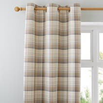 Ochre Balmoral Lined Eyelet Curtains