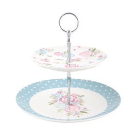 Candy Rose Two Tier Cake Stand