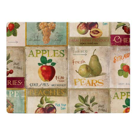Retro Fruit Placemat 4 Pack