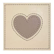 Pack of 4 Faux Leather Heart Coasters