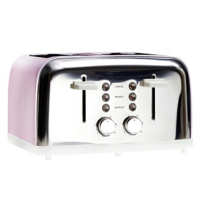 Candy Rose Pink 4 Slice Toaster